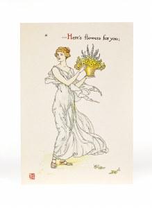 Flowers Walter Crane Card