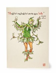 'Unto the green holly' Christmas Card