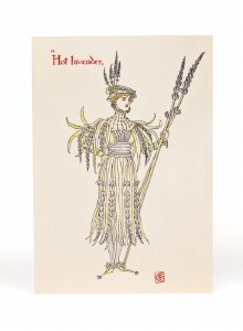 Lavender Walter Crane Card