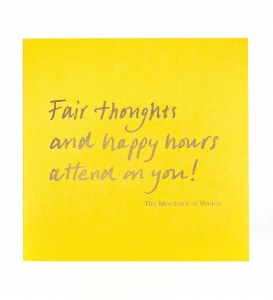 Greetings Card, Fair thoughts