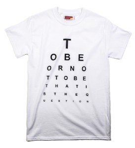 """""""To be, or not to be..."""" T-Shirt in White (Small)"""