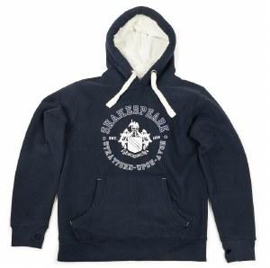 Shakespeare Crest Navy Hoodie - XX Large