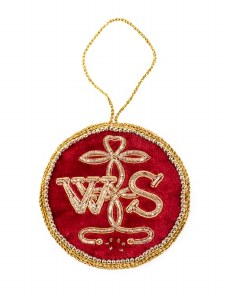 Red 'WS' Seal Decoration