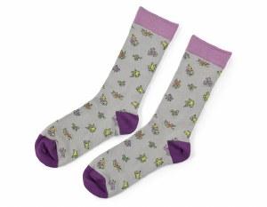 'Ophelia's Flowers' Socks (Grey)