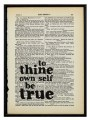 Print - 'To thine own self...'