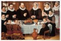 Family Saying Grace Before a Meal by Anthonius Claeissins, Print on canvas