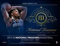 19/20 PANINI NATIONAL TREASURES - 4 BOX CASE