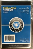 RESEALABLE TEAM SET BAGS 100CT