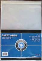 CSP SHEET MUSIC SLEEVES W/FLAP
