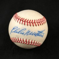EDDIE MATHEWS AUTO BB BAS 0172