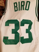 LARRY BIRD AUTO JERSEY UDA