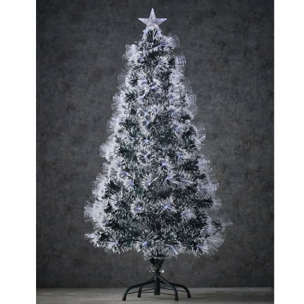 Fibre Optic Christmas Tree Ohio with Cool White Lights 4 Foot Tall