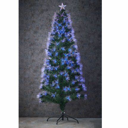 Fibre Optic Christmas Tree Highland with Multi Colour Lights 6 Foot Tall