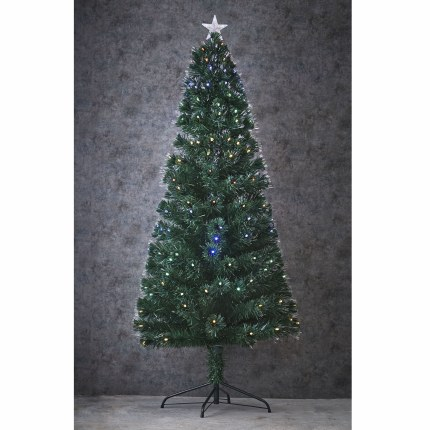 Fibre Optic Christmas Tree Camini  with Multi Colour Lights 6 Foot Tall