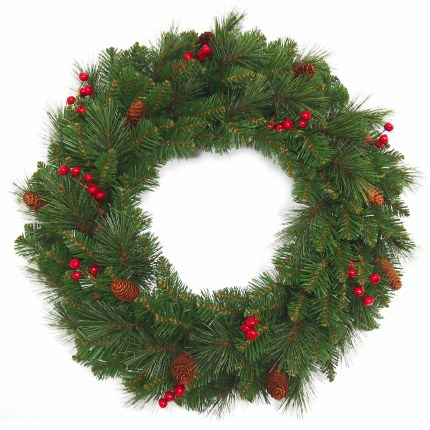 "24"" Everyday Artificial Christmas Wreath"