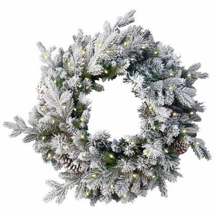 "24"" Misty Mountain Pre-Lit Artificial Christmas Wreath"