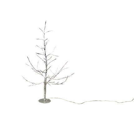 Silver tree with 48 Warm White LED Lights 50cm Tall With Round Base