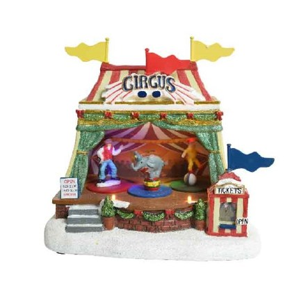 Christmas Village Scene LED Circus Tent Battery Operated 23x16x22cm