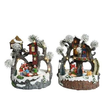 Christmas Village Scene LED Treehouse 20cm x 20cm x 23cm