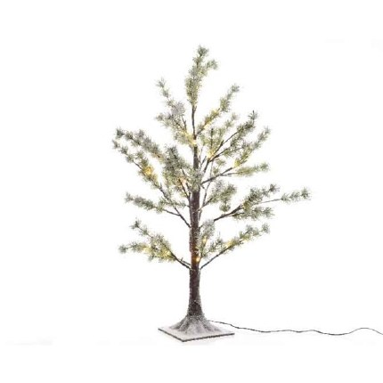 Snow Pine Tree With 90 Warm White LED Lights 150cm Tall