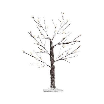 Silver Birch Tree With Snowy Stems With 48 Warm White LED Lights 120cm Tall