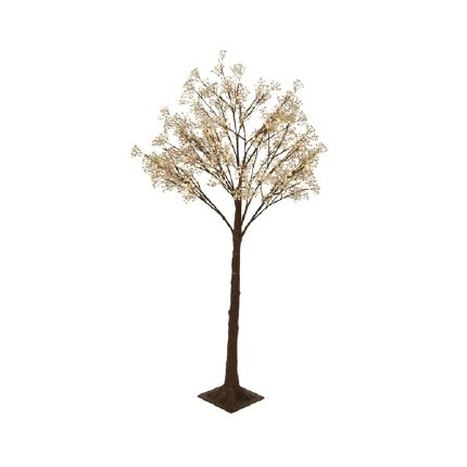 Christmas Tree Pre-Lit With Gypsophila Flowers with 126 Warm White Lilghts 1.5 Meter Tall