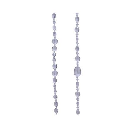 Christmas Garland Beads Clear Acrylic 120cm