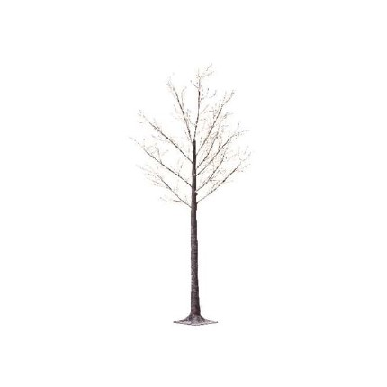 Silver Birch Tree With Snowy Stems With 750 Warm White Micro LED Lights 220cm Tall