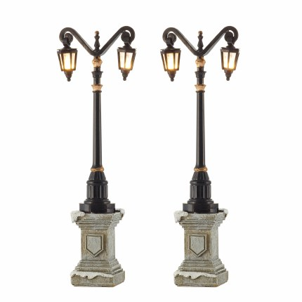 Christmas Village Scene Street Lamps on Foot 2 pieces 14cm