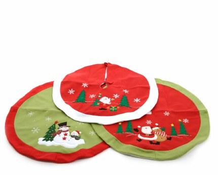 Christmas Tree Skirt Green & Red or Red & White 90cm
