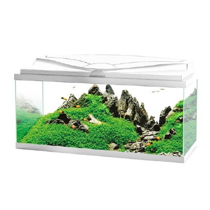 Ciano Aquarium Aqua 80 In White With LED Lights & White Lid - 80 x 30 x 41.5cm