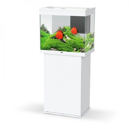 Ciano Emotions Pro 60 White Aquarium With White Trim Cabinets
