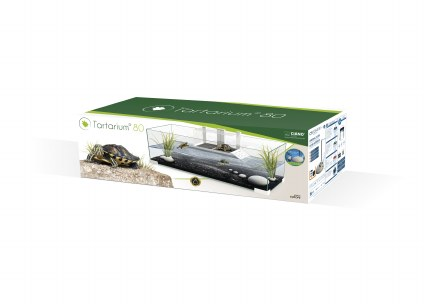 Ciano White Tartarium 80 Terrapin Glass Tank 80 x 30 x 24.5cm