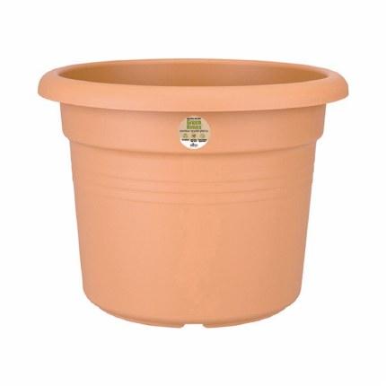 Elho Green Basics Cilinder 80cm Plastic Pot Mild Terracotta