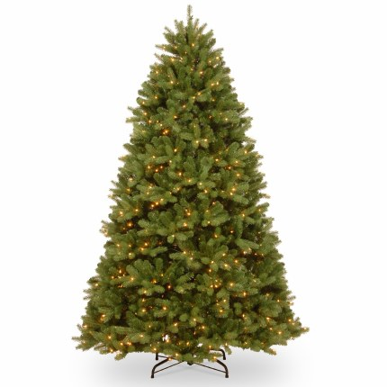 Fairmont Cedar 7.5 Foot Pre-Lit Artificial Christmas Tree With 750 Warm White Lights