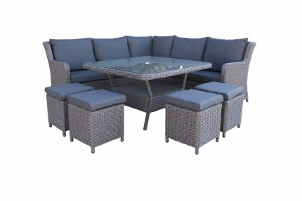 Bespoke Genoa Corner Modular 8 Seater Suite With Cushions - Summer Sale