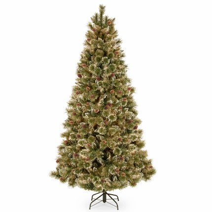 Glittery Bristle 7.5 Foot Artificial Christmas Tree