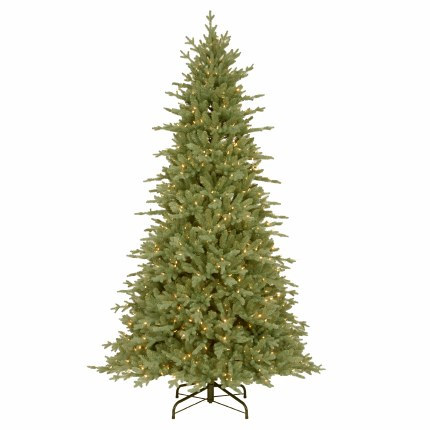 Grand Canadian 7.5 Foot Pre-Lit Artificial Christmas Tree with 650 Warm White LED Lights
