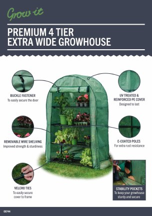 Gardman 4 Tier Extra Wide Grow House Cover