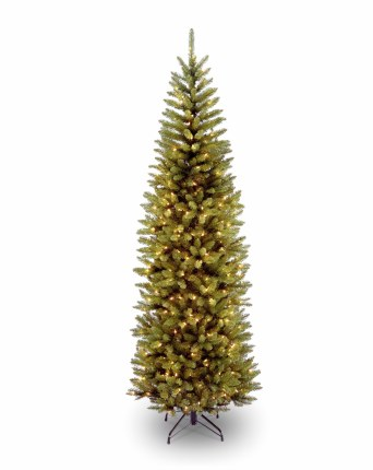 Kingswood Fir Slim 7.5 Foot Pre-Lit Christmas Tree With 350 Warm White Lights