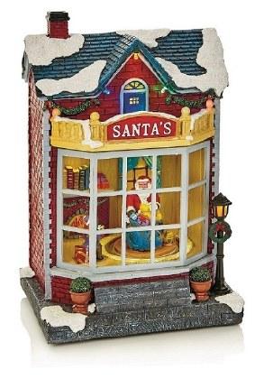 Christmas Village Scene LED Santa's Workshop Multi 28cm