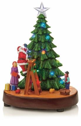 Christmas LED Scene with Santa moving on Ladder