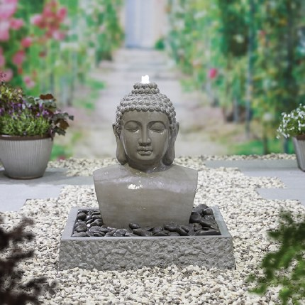 Lotus Buddha Water Feature 710 x 700 x 700cm