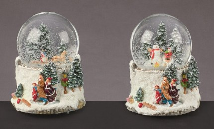 Christmas Snowglobe Forest Scene with Music Multi 100mm