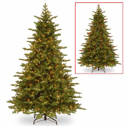 Mackenzie Fir 7.5 Foot Pre-Lit Artificial Christmas Tree with 750 Dual