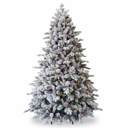 Artificial Christmas Tree With Lights.Misty Mountain 7 5 Foot Pre Lit Artificial Christmas Tree With 600 Warm White Led Lights