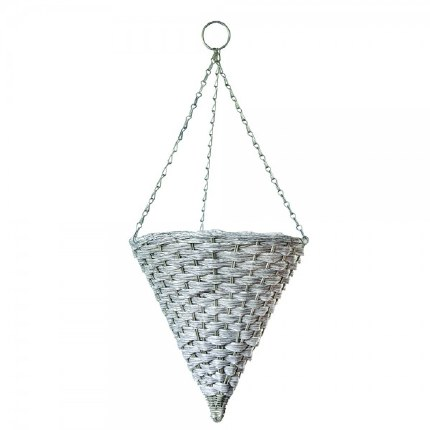 Mountain Grass Effect Hanging Basket Cone 14in