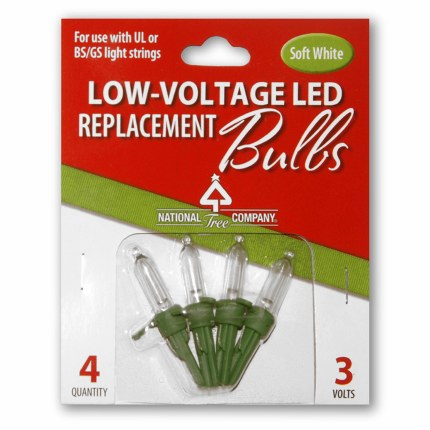 Replacement Warm white LED bulbs for National Tree Christmas Trees