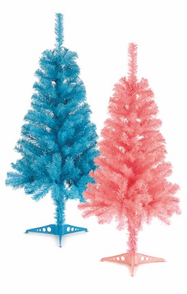 90cm Artificial Christmas Tree Children's Bedroom Pink or Blue