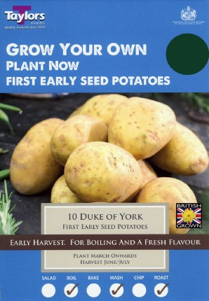 Duke Of York Seed Potatoes 8 Pack - First Early